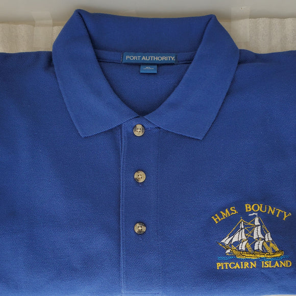 Pitcairn Island Polo shirt - HMAV Bounty Embroidered Motif
