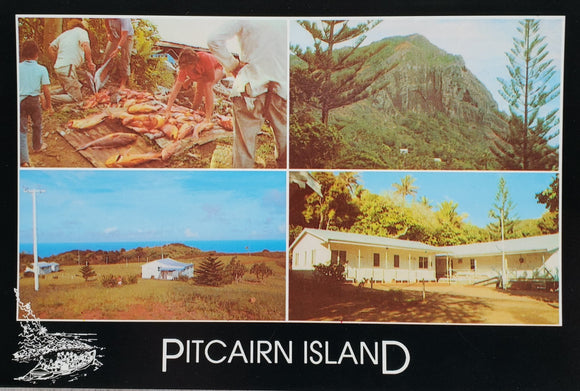 Pitcairn Island Postcard - Our Island 70s Style