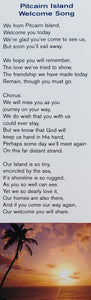 Bookmark - Pitcairn Island Welcome Song  - Card Stock