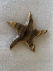 Handmade Starfish Fridge Magnet in local Burau wood - Small