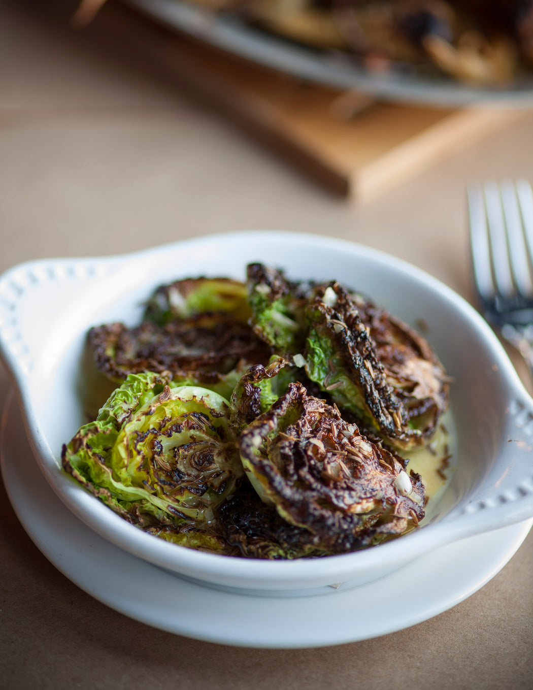 Story Plate Recipes: Roasted Cabbage with Toasted Caraway Vinaigrette - Osteria Mozza