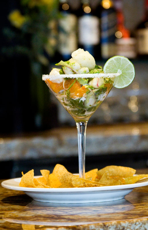 Story Plate Recipes: Scallop Margarita with Tequilla Ice - RIS