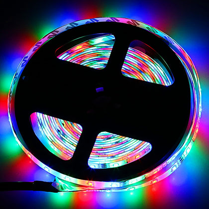 Free Shipping ZDM 5M 2835 RGB 300 LED Lights Strip Light with IR 24 Remote Control