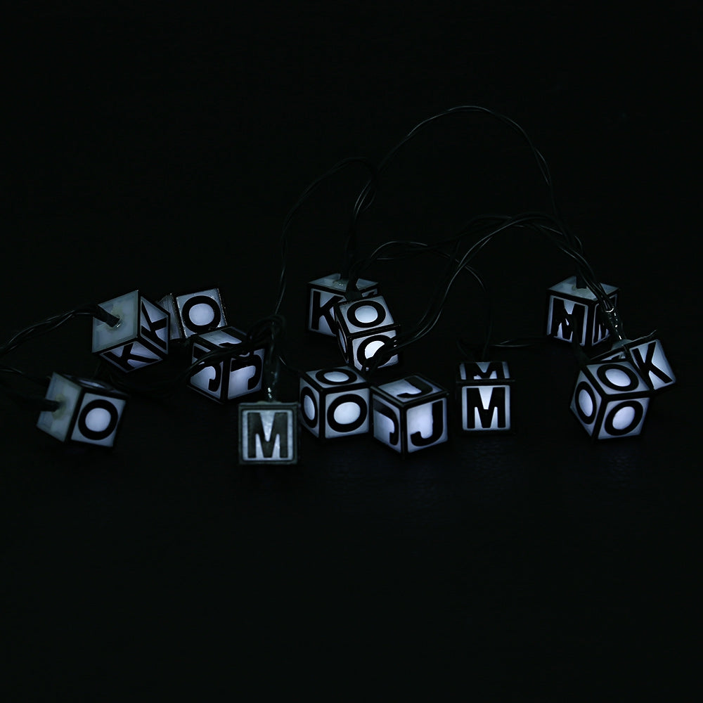 SS - 16 Waterproof Solar Powered Letter String Lamp Christmas Decor