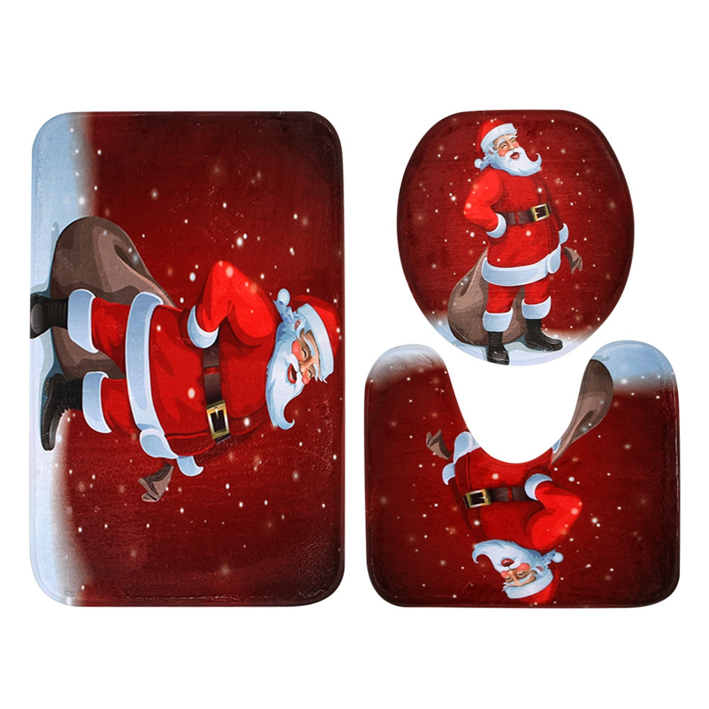 Christmas Santa Claus Toilet&Bath Mat