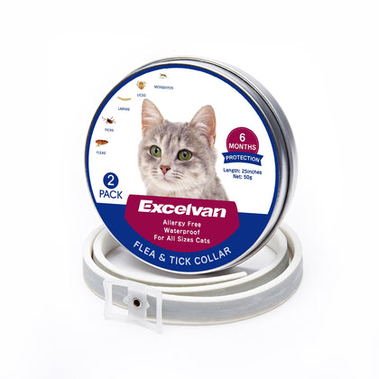 flea and tick collar for cats -2 pack