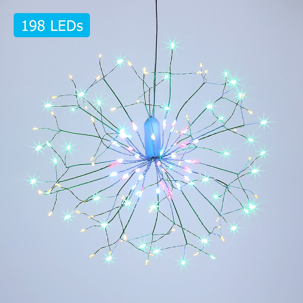 Free Shipping LH - BOM - YHD198M 198 LEDs Hanging Starburst Light with Remote Control