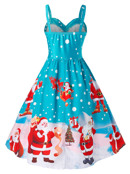Plus Size Christmas Vintage Party Dress