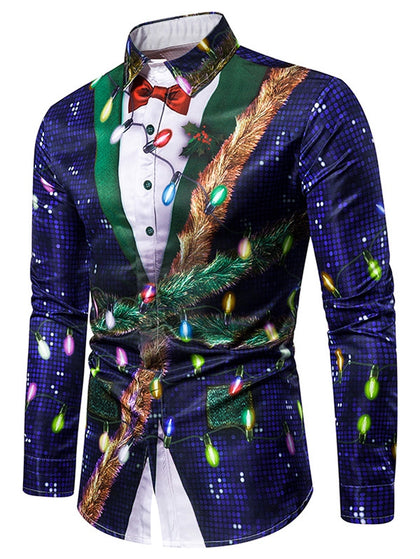 Christmas Faux Sequins Shirt
