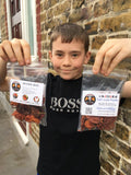Boy with bags of ChilliEd chillies