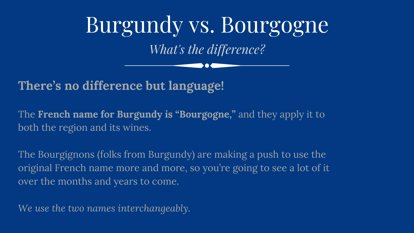 Burgundy vs. Bourgogne: What's the Difference?