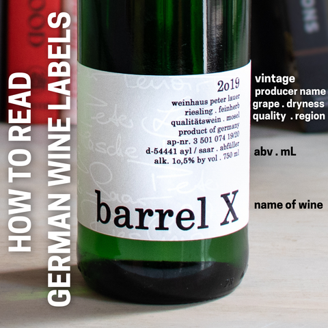 How to read german wine labels vintage producer abv name of wine dryness