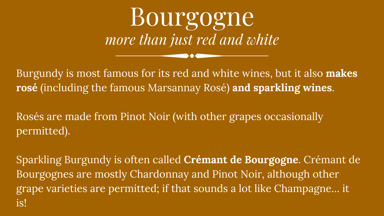 bourgogne wines: more than red and white wine
