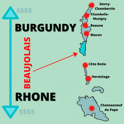 Beaujolais Proximity to top wineries
