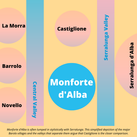 map to monforte d'alba
