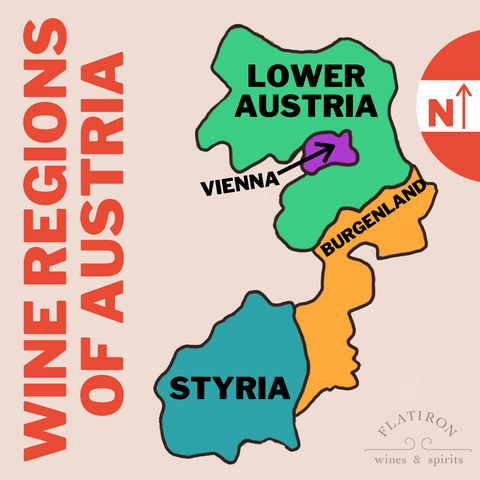 Wine Regions of Austria Map