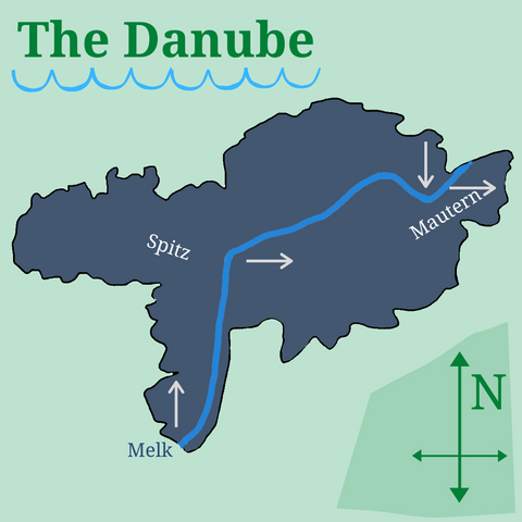 The Danube River Graphic