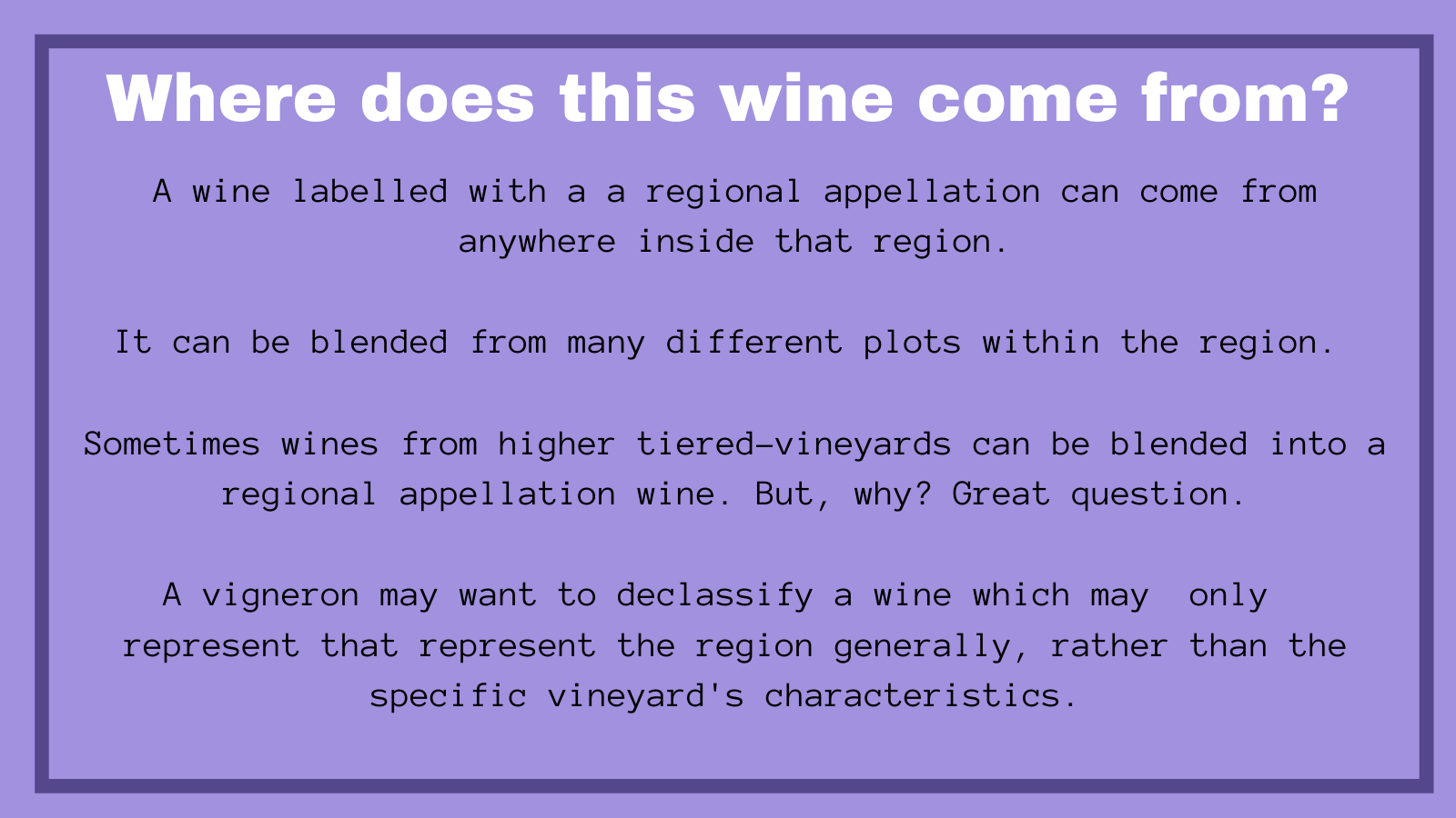Where does this wine come from guide to burgundy
