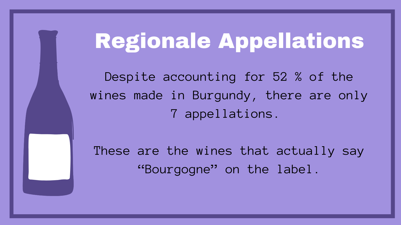 Regional Appellations Burgundy Fast Facts