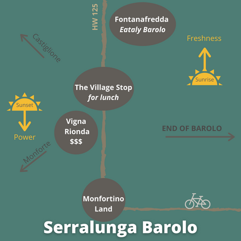 Map of Serralunga d'Alba Barolo Cru