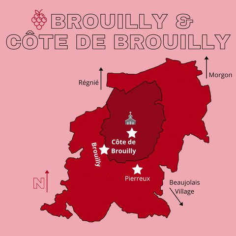brouilly and cote de brouilly map cru beaujolais