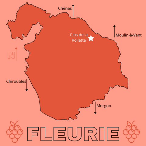 map of fleurie cru beaujolais