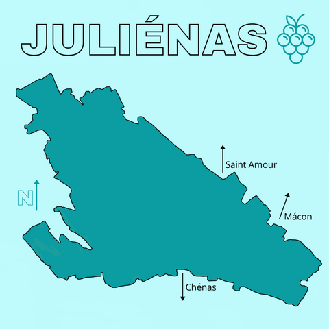 map of julienas cru beaujolais