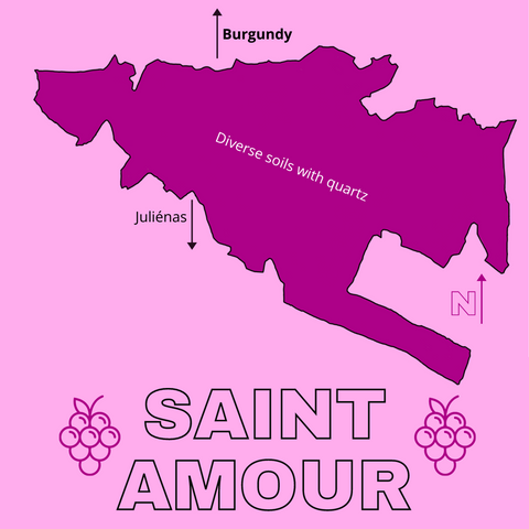 map saint amour cru beaujolais