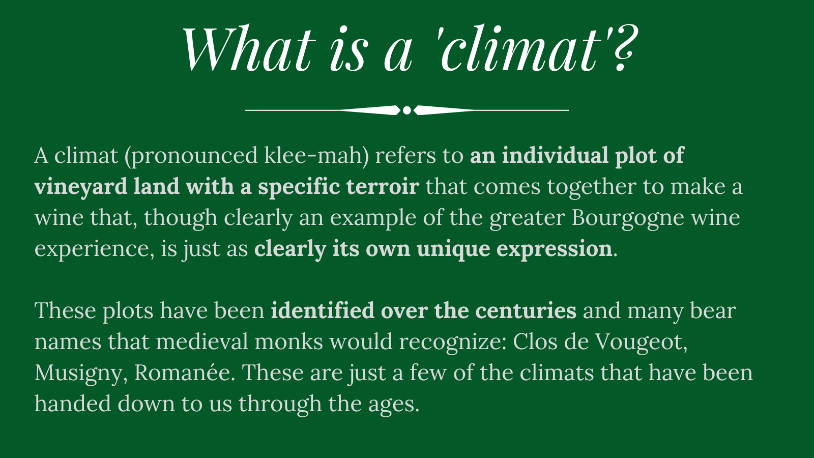 What is a climat?