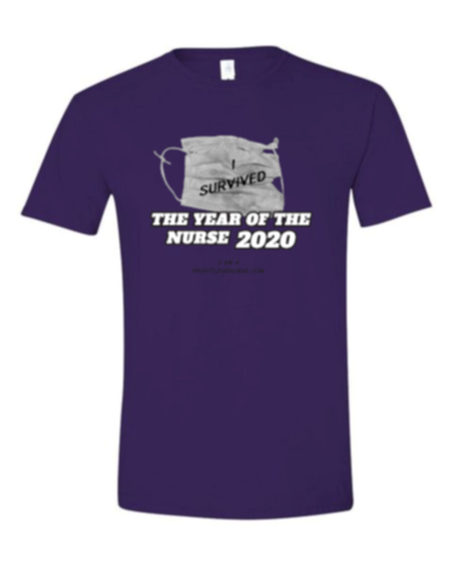 "YEAR OF THE NURSE 2020 ""I Survived"" purple"