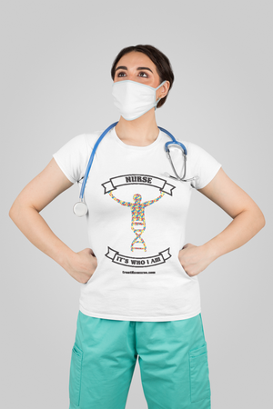 "DNA Nurse ""IT'S WHO I AM"" White Frontline Nurse Florence Nightingale t-shirt"