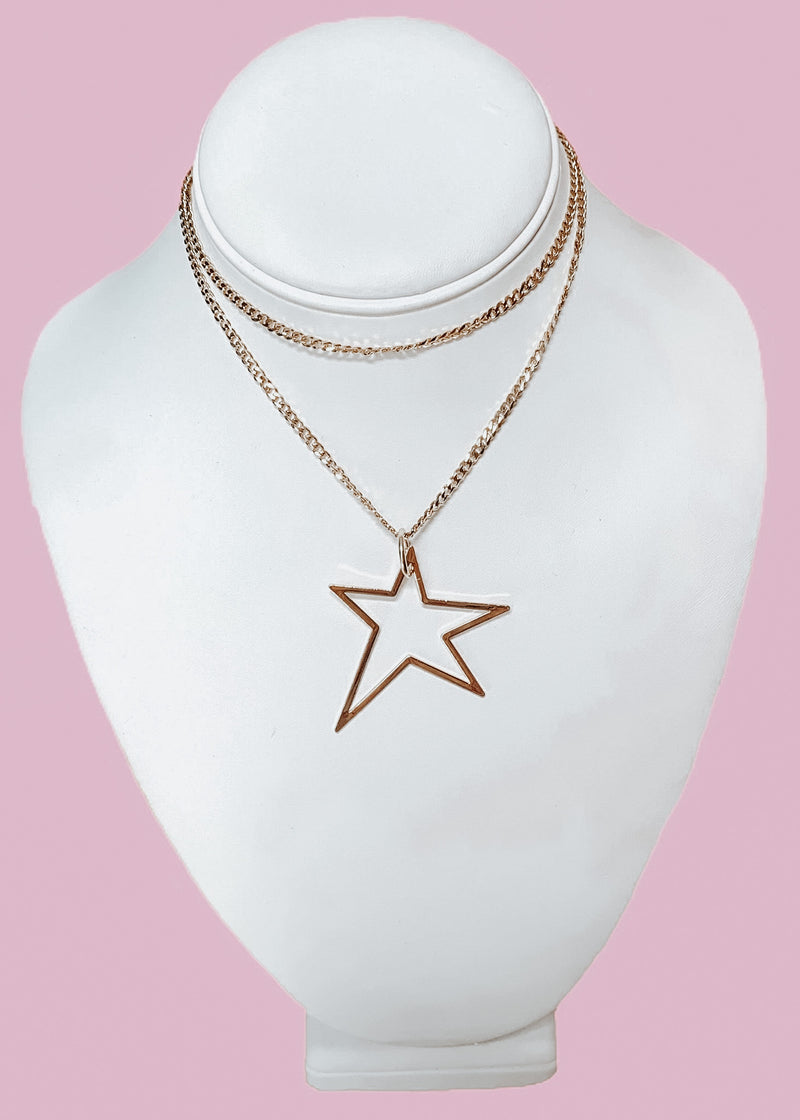 Star Crossed Necklace - Gold