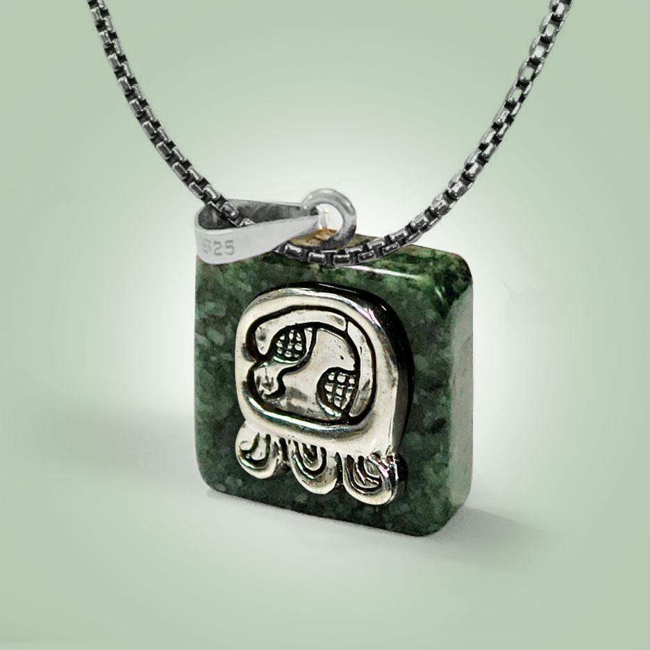 Mayan Glyph Necklace