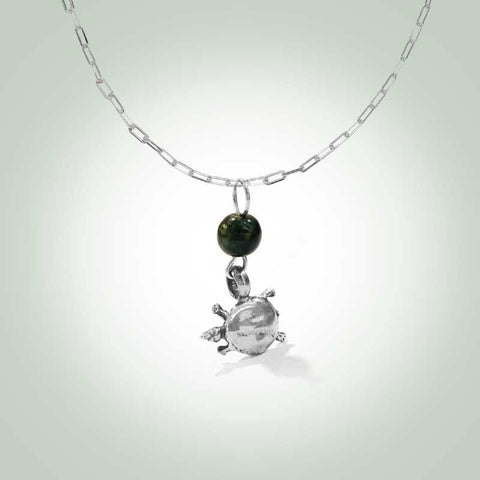 Soft-Shell Turtle (Trionychidae) Necklace - Jade Maya