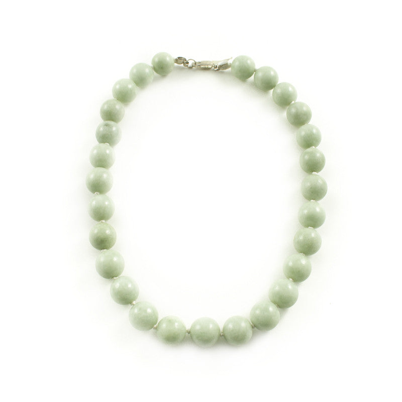 Light Green Jade Beaded Necklace