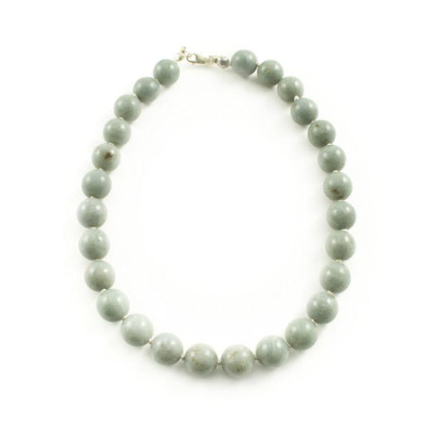 Green Jade Beaded Necklace