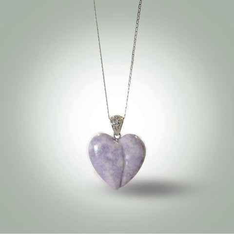 Lilac Heart Necklace