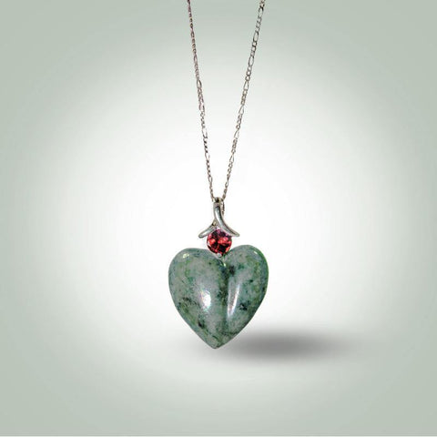 Mint Green Heart Necklace