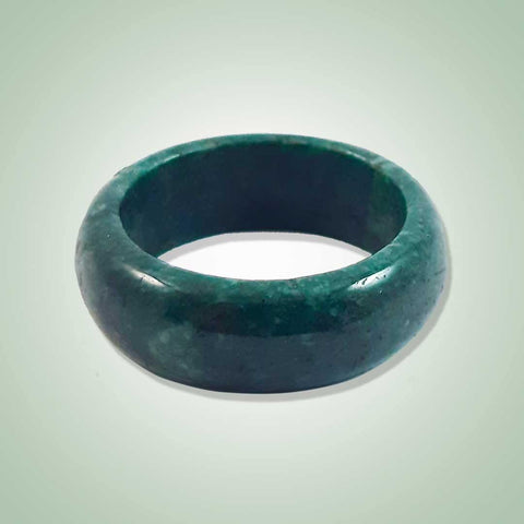 Solid Green Jade Ring