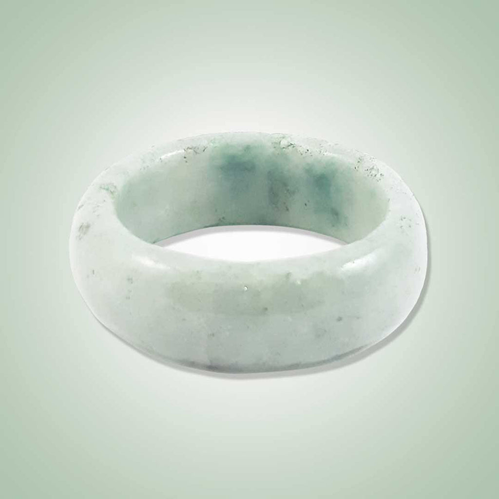 Solid Mint Green Jade Ring - Jade Maya
