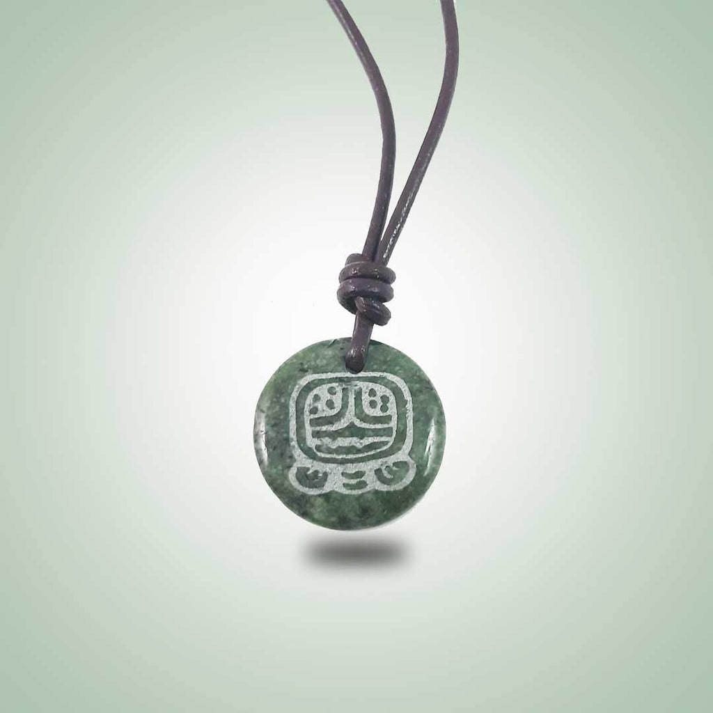 Small Mayan Sign Necklace (26mm)