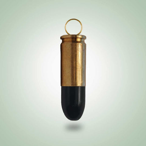 Jade and Brass Bullet Pendant