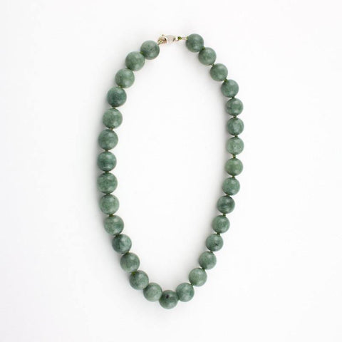 Green Jade beaded necklace - Jade Maya