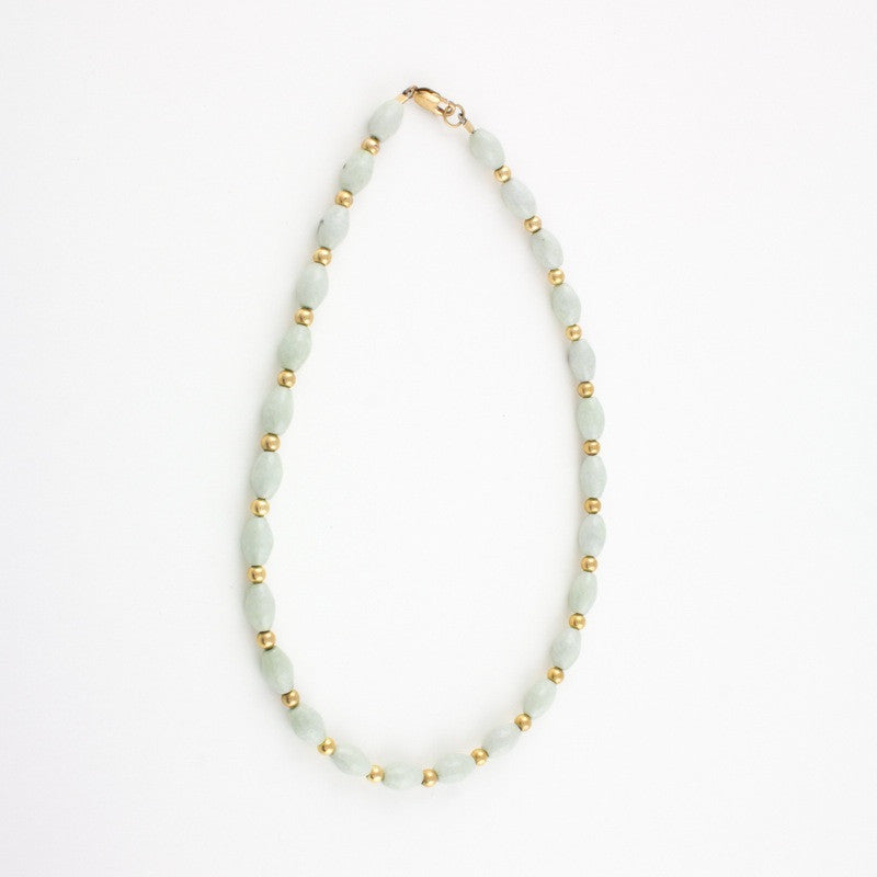 Necklace of white jade