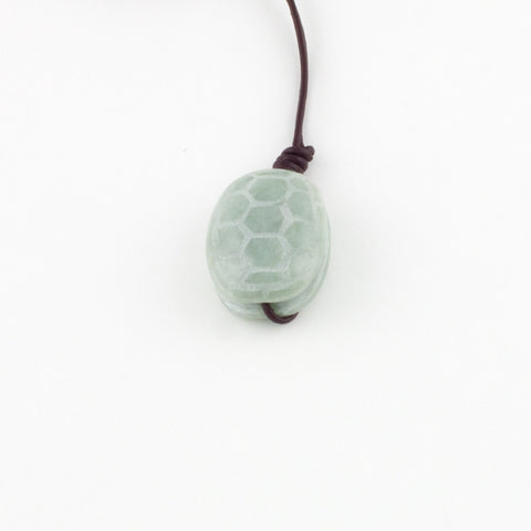 Light Green Turtle Shell Pendant