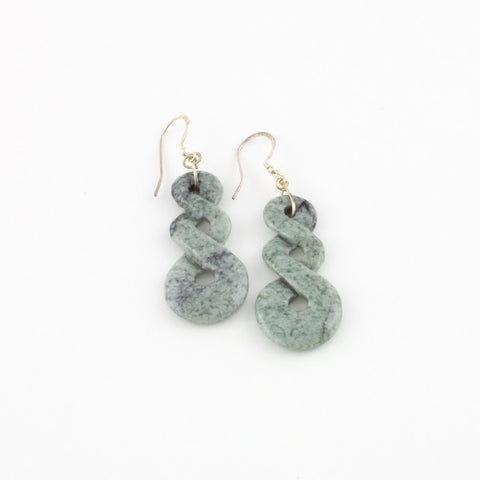 Mint Green Helix Earrings