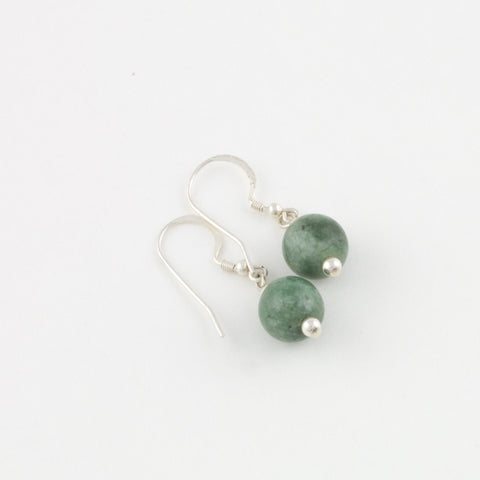 Mint Green Bead Earrings