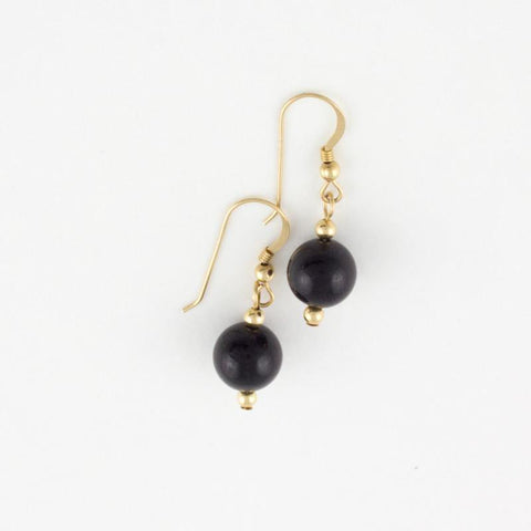 Classic Black Jade Earrings