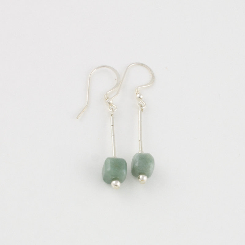 Mint Jade drop earrings