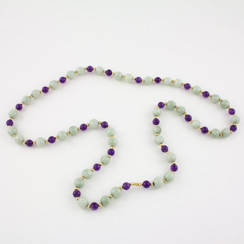 White Jade and Amethyst necklace